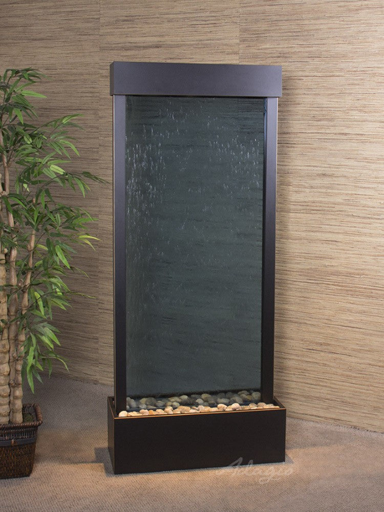 Harmony River-Center Mount-Blue Glass-Blackened Copper- Soothing Walls