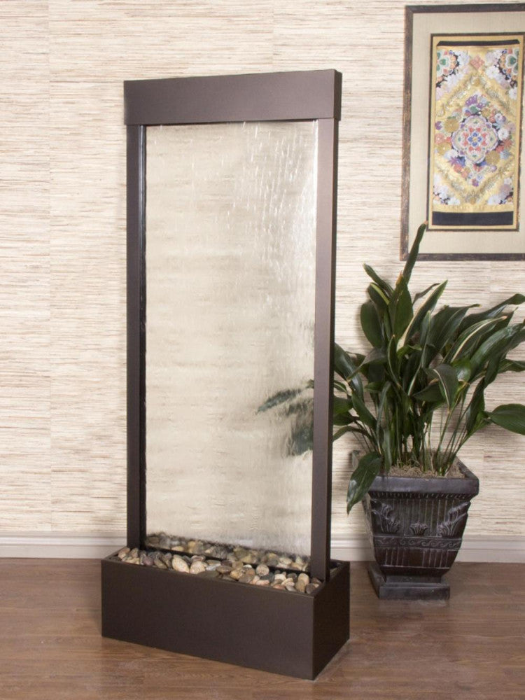 Harmony River-Center Mount-Clear Glass-Antique Bronze- Soothing Walls