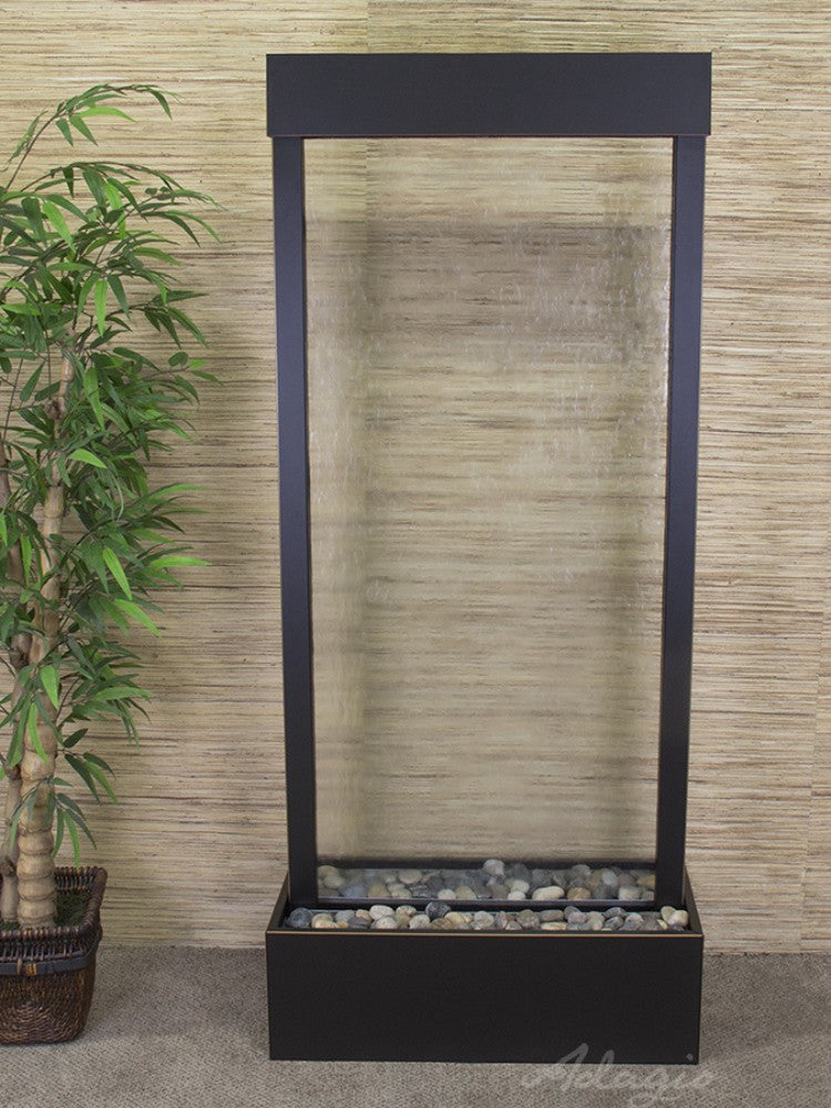 Harmony River Center Mount Clear Glass Blackened Copper  Soothing Walls.  Quick Shop. Harmony River Floor Fountain ...