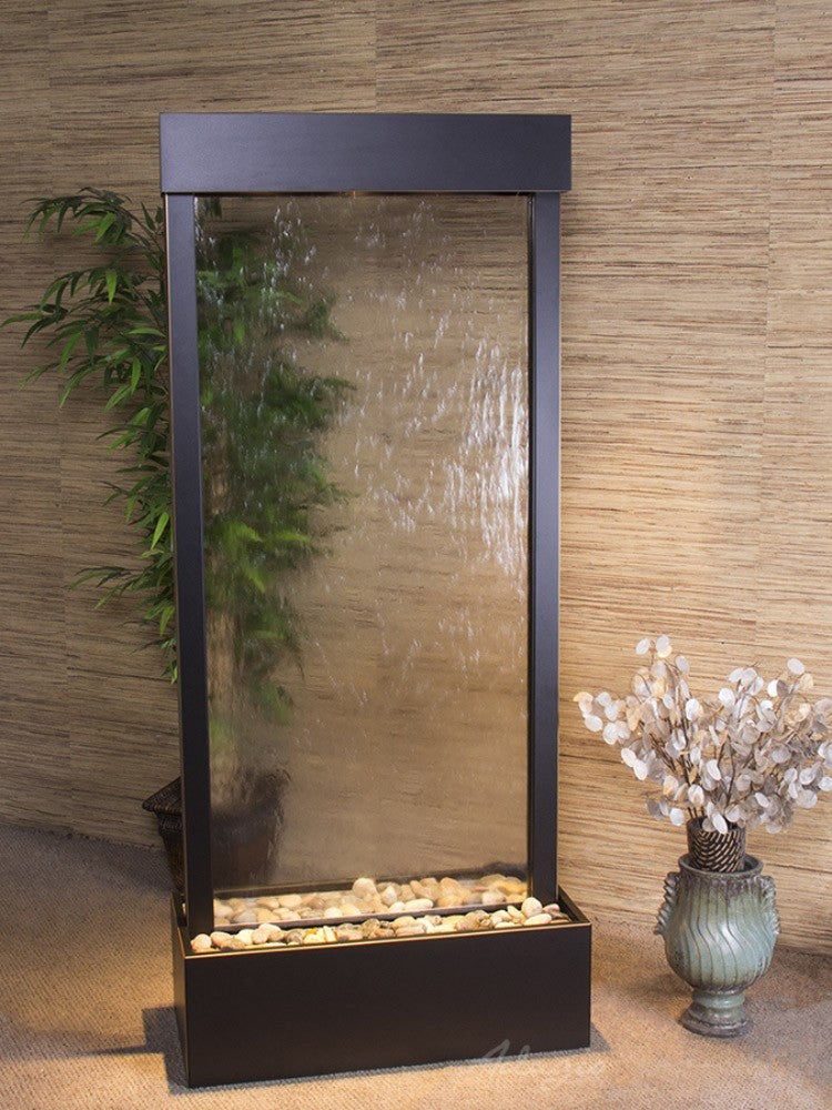 Harmony River-Center Mount-Clear Glass-Blackened Copper- Soothing Walls