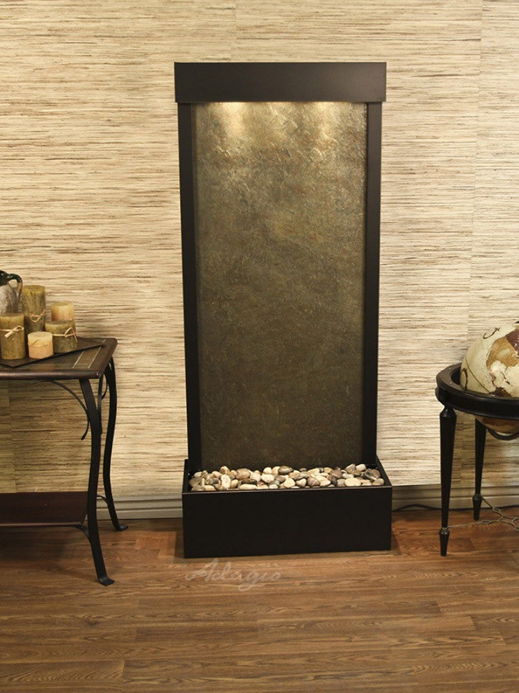 Harmony River-Rear Mount-Green Featherstone-Antique Bronze- Soothing Walls