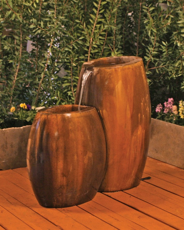 Hybrid 2-Part Garden Fountain - Soothing Walls
