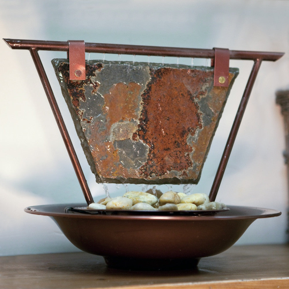 Haiku Moon Tabletop Water Fountain - Soothing Walls