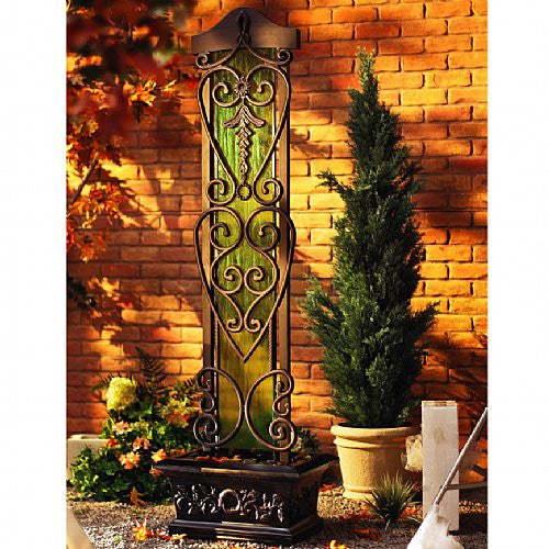 Water Trellis Outdoor Fountain - Soothing Walls