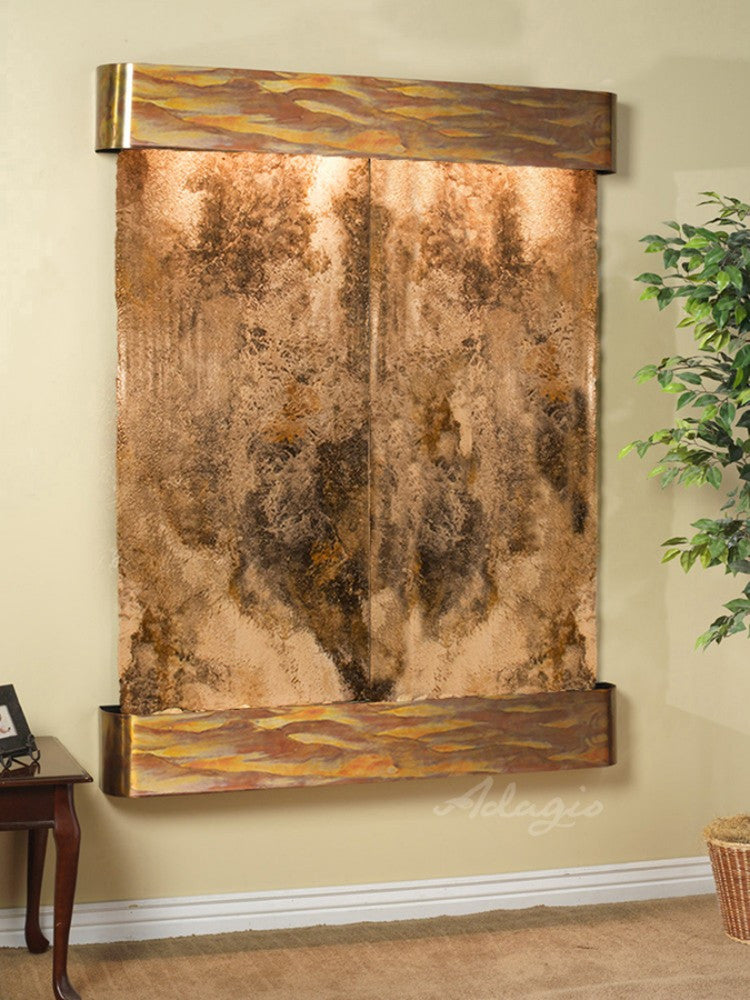 Majestic River - Magnifico Travertine - Rustic Copper - Rounded Corners - Soothing Walls