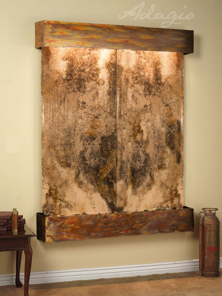 Majestic River - Magnifico Travertine - Rustic Copper - Squared Corners - Soothing Walls