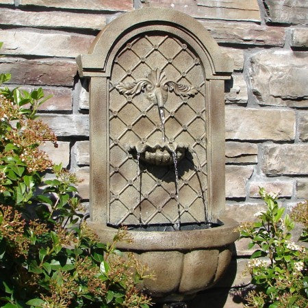 The Manchester Outdoor Wall Fountain - Soothing Walls