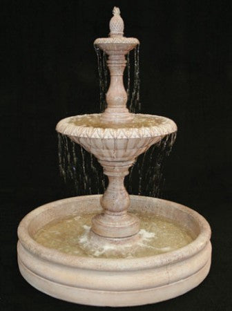 Small Four Seasons Garden Water Fountain with 46 inch Basin - Soothing Walls