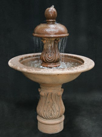 Cobra Garden Water Fountain with Smooth Cobra Pedestal - SoothingWalls