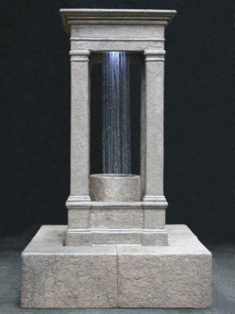 Old World Center Rain Fountain, Tall with Column - Soothing Walls