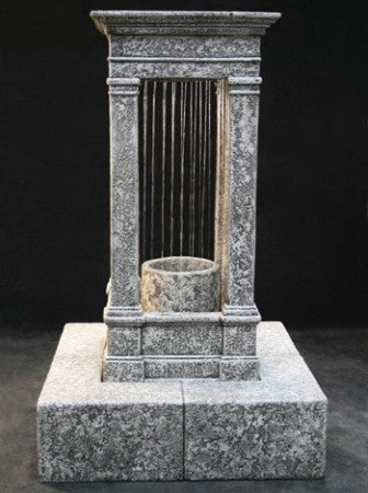 Old World Curtain Rain Fountain, Tall with Column - Soothing Walls
