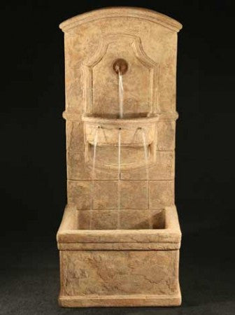 Di Amico Outdoor Wall Fountain - Soothing Walls
