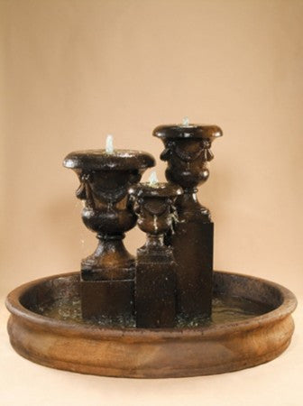 Venetian Urns Fountain - Soothing Walls