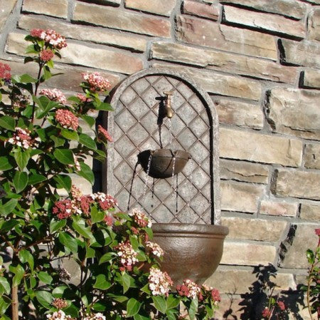 The Milano Outdoor Wall Fountain - Soothing Walls