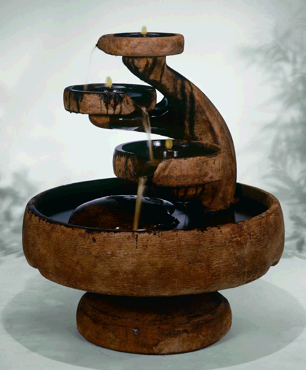 Mill Tier Outdoor Water Fountain   Soothing Walls ...