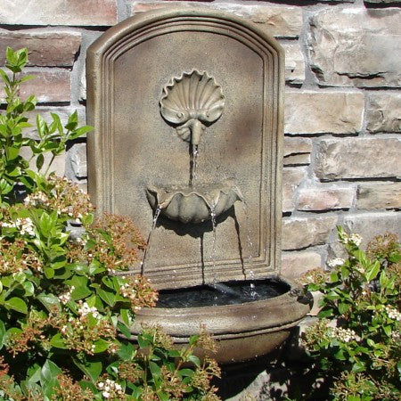 The Napoli Outdoor Wall Fountain - Soothing Walls