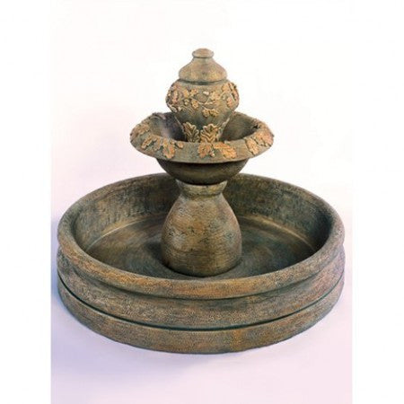 Oak Fountain with 46 inch Basin - Soothing Walls