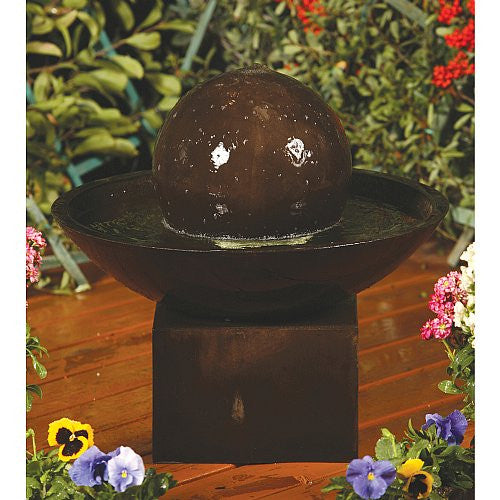 Small Wok Garden Fountain with Pedestal - Soothing Walls