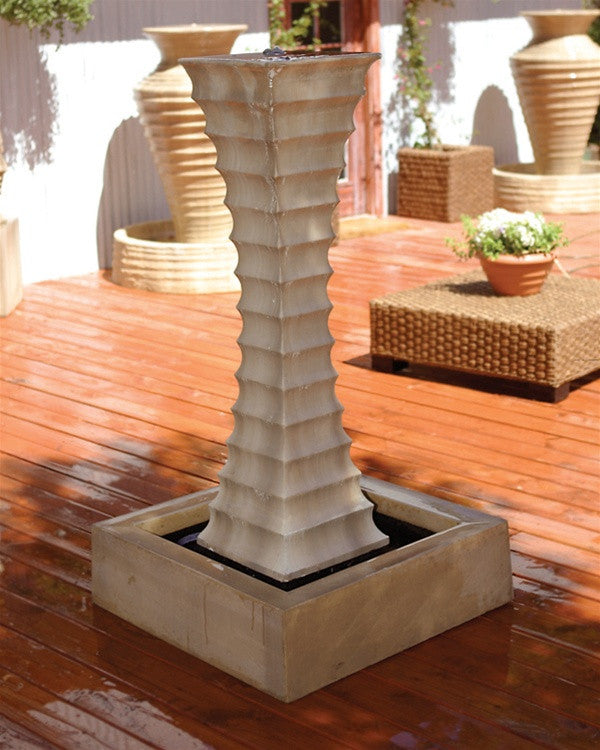 Square Scallop Outdoor Fountain - Soothing Walls