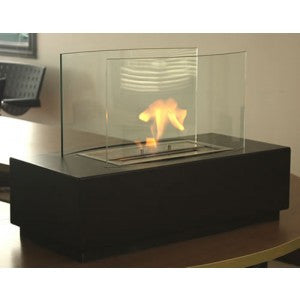 10' Grande Copper Vein and Clear Glass Floor Fountain - SoothingWalls