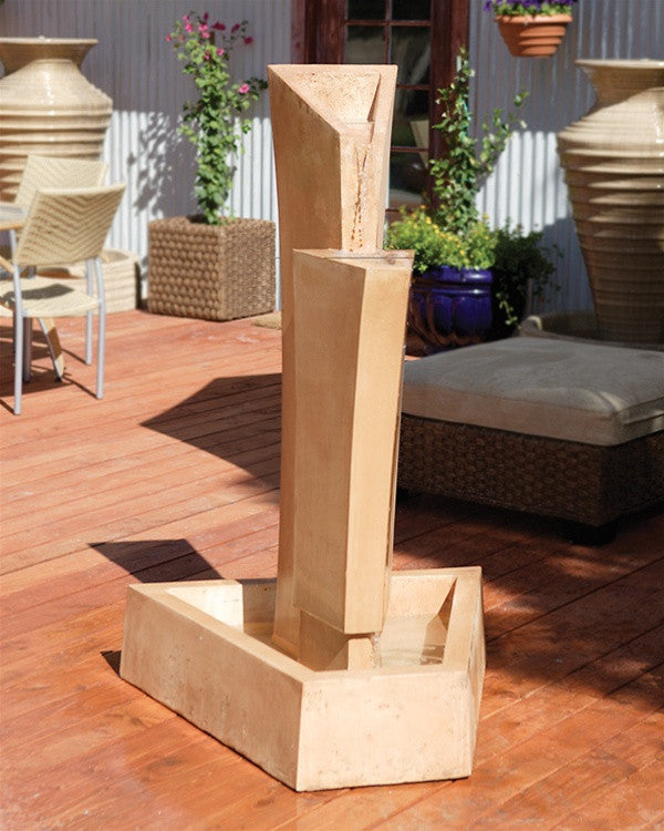 Tower Outdoor Fountain - Soothing Walls