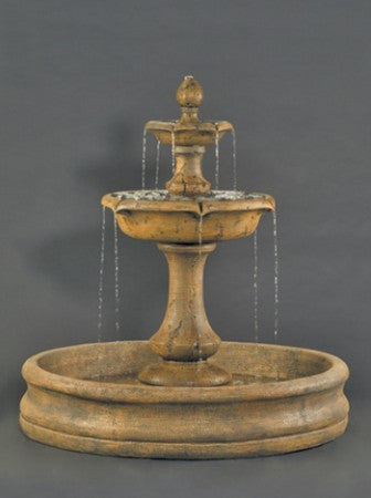 Large Verona Fountain with 55 inch Basin - Soothing Walls