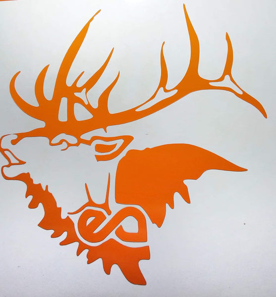 Elk Addicts Bull Bugle Decal