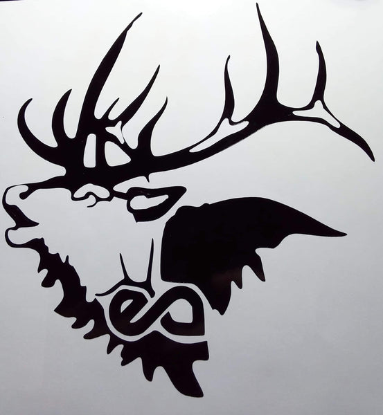 EA Elk Addicts Bull Bugle Decal