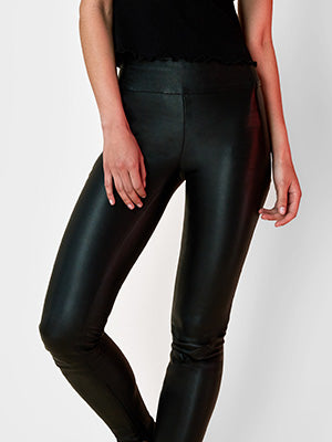 OT black leather leggings