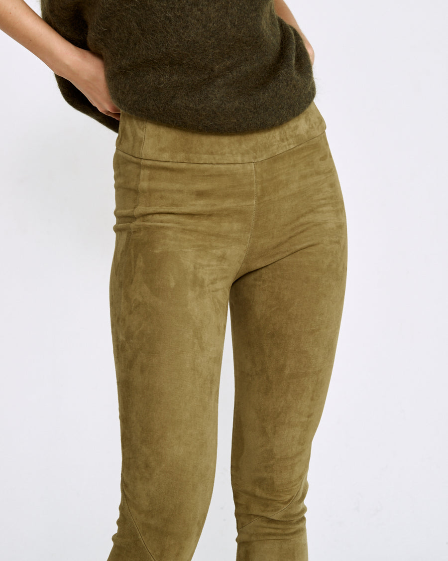NEW - OT LEGGINGS MOSS SUEDE