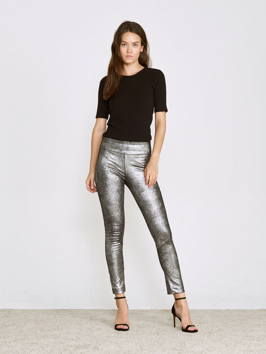 OT LEGGINGS MERCURY SILVER SUEDE - LIMITED
