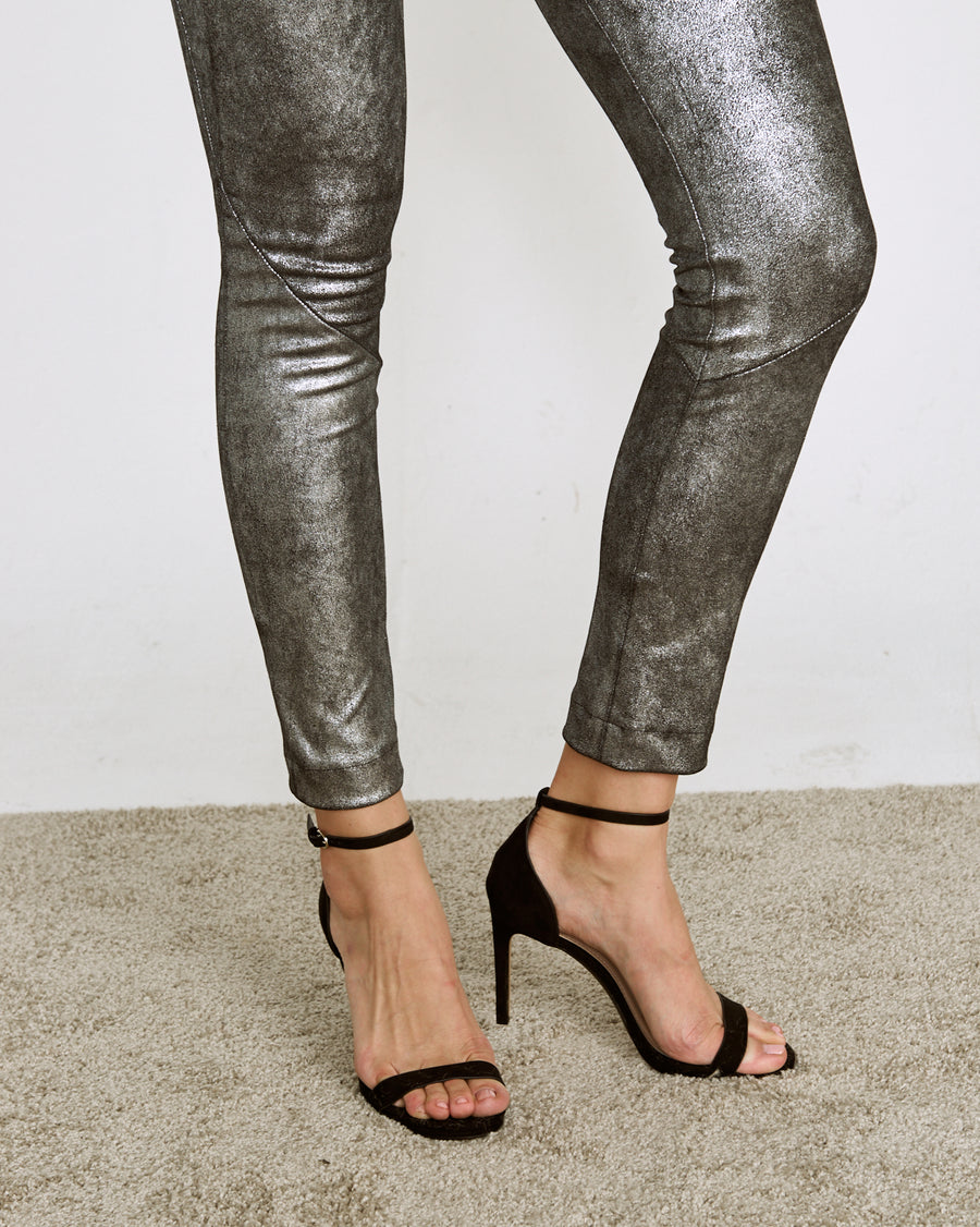 *NEW* OT LEGGINGS MERCURY SILVER SUEDE