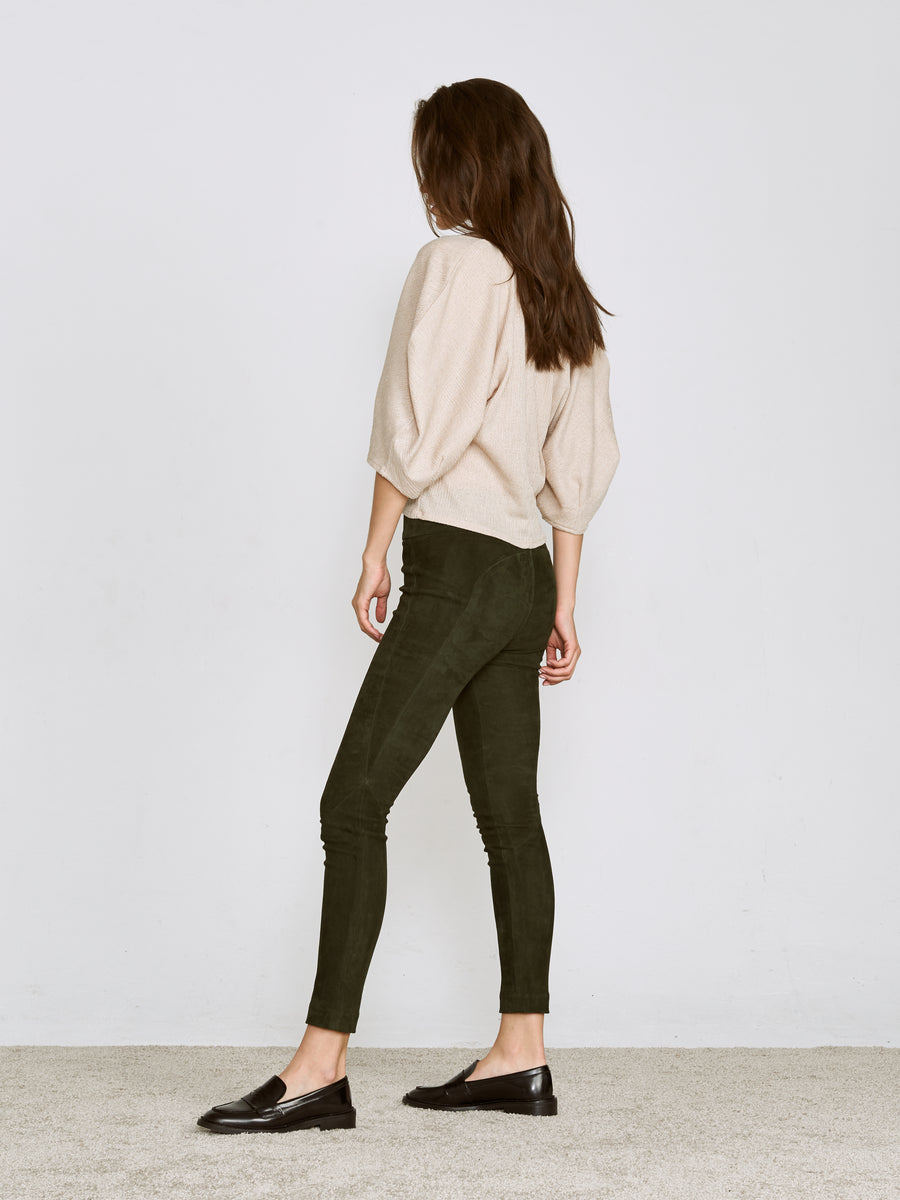 OT LEGGINGS FOREST GREEN SUEDE