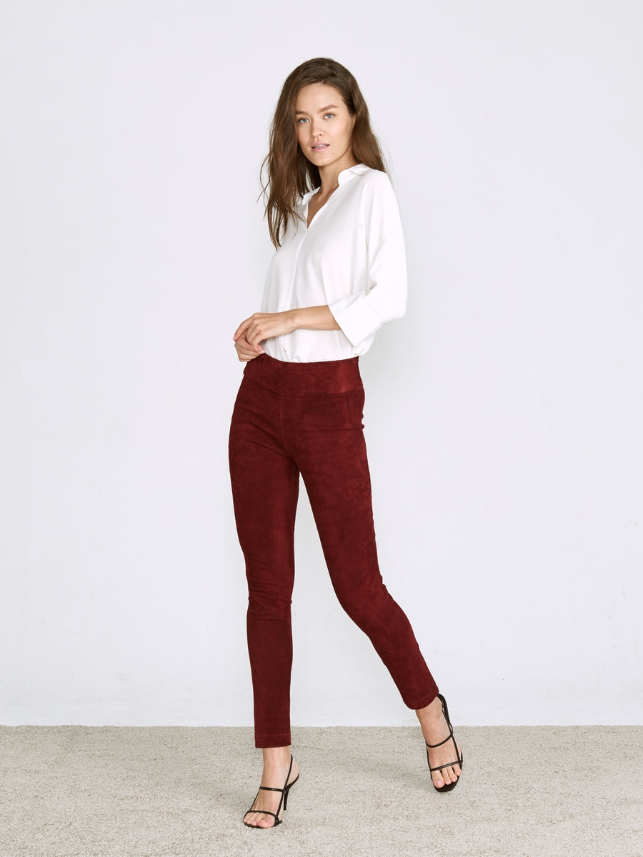 OT LEGGINGS CURRANT SUEDE - LIMITED