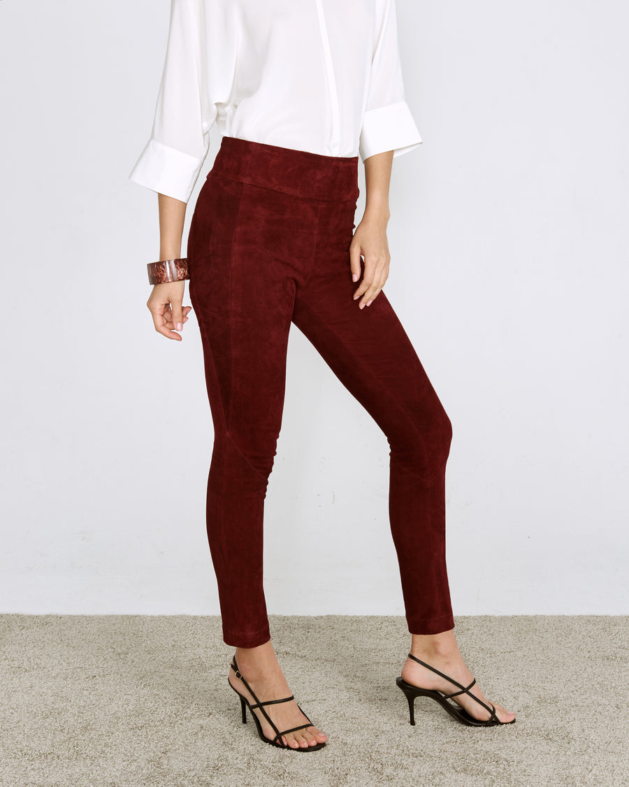 OT LEGGINGS CURRANT SUEDE - OUT OF STOCK