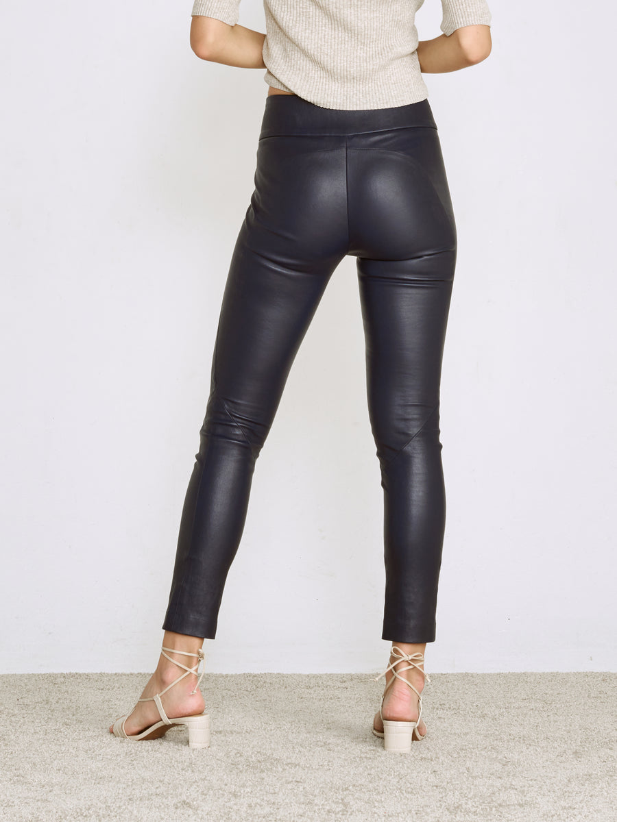 OT LEGGINGS MIDNIGHT BLUE LEATHER - LAST UNITS