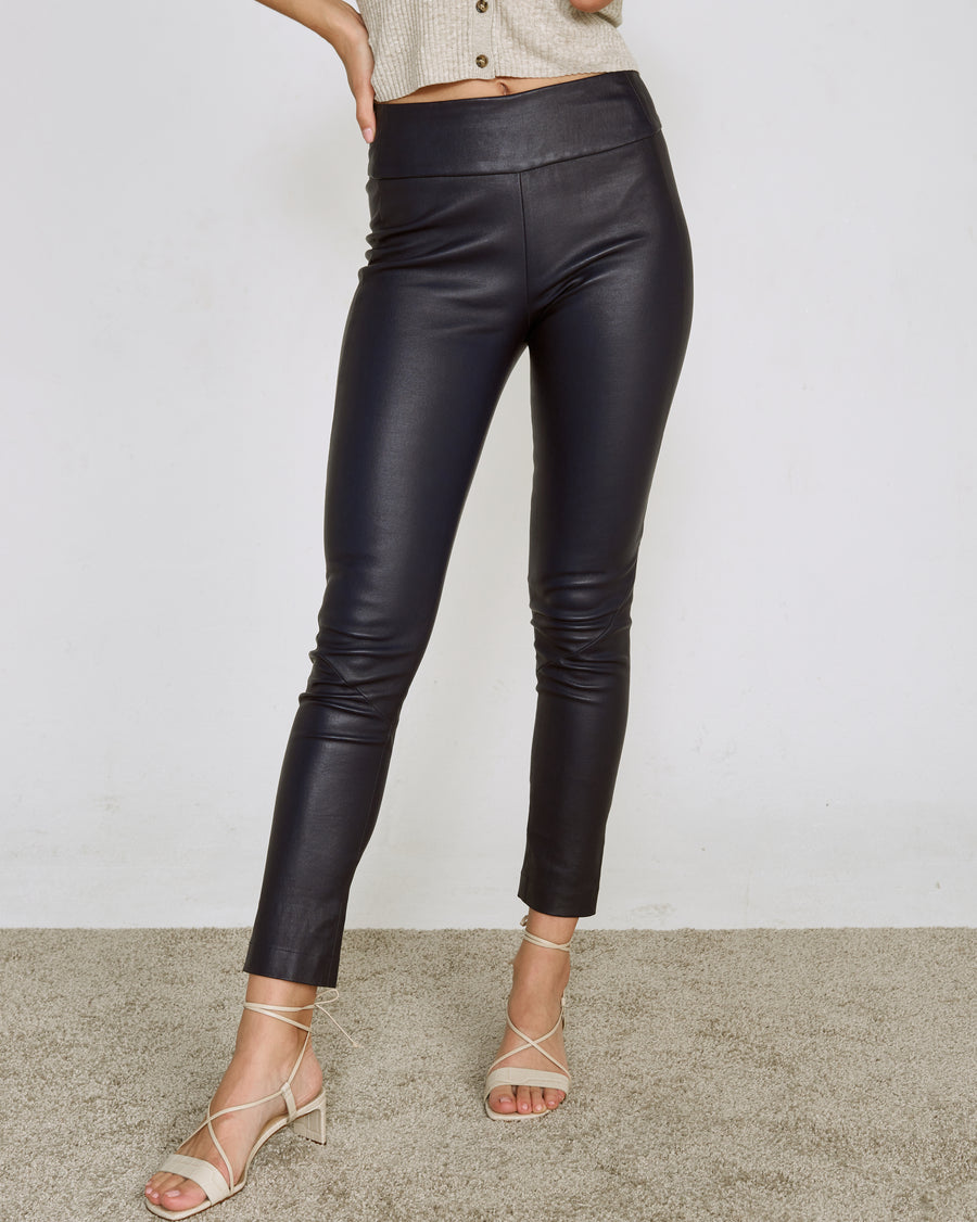 OT LEGGINGS MIDNIGHT BLUE LEATHER - LIMITED