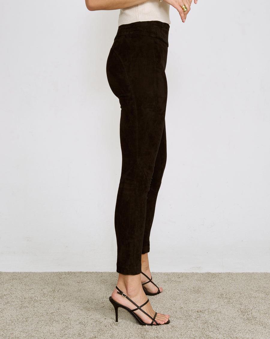 OT LEGGINGS BLACK SUEDE