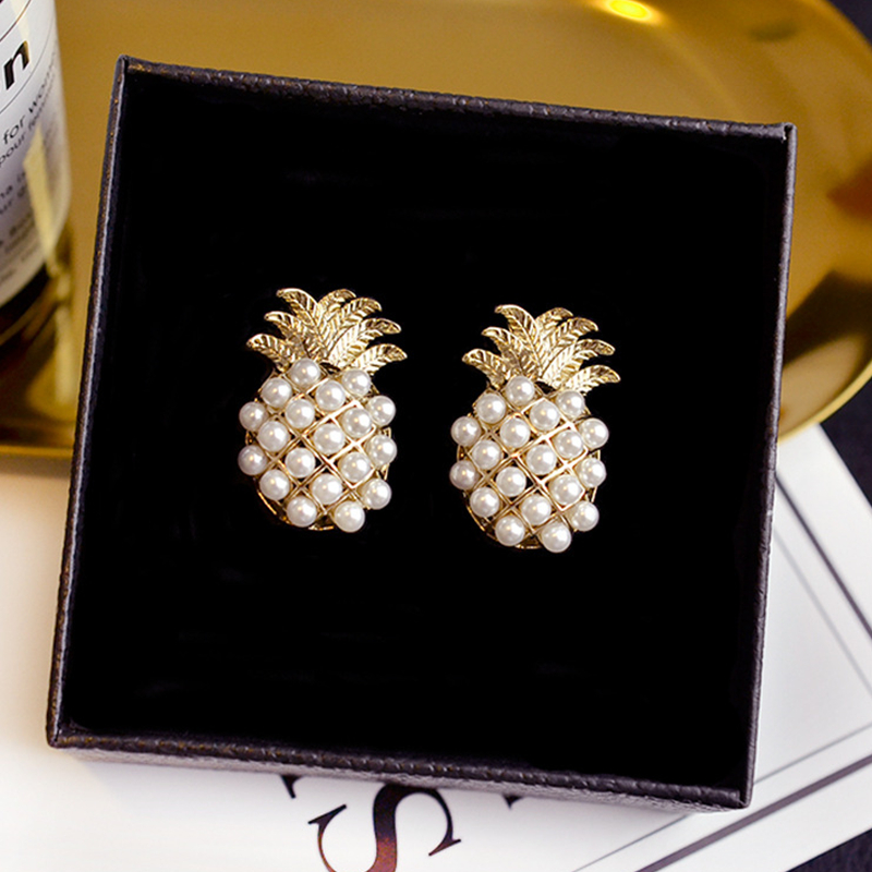 Pearl Pineapple Earrings