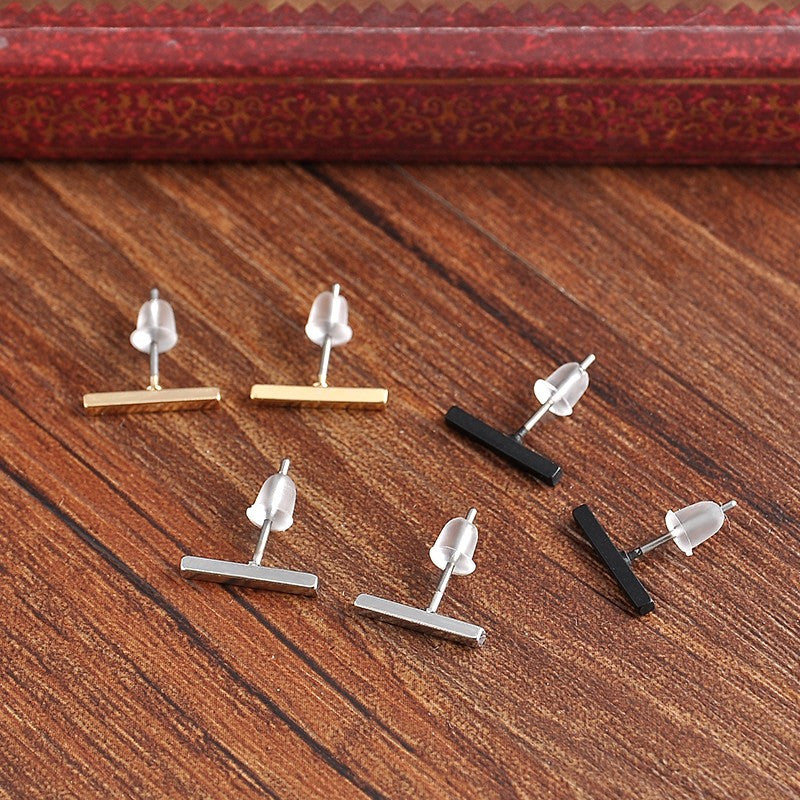 """T"" Bar Earring"