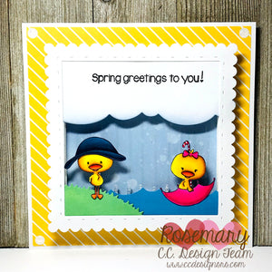 April & May Rain Shaker Card Tutorial