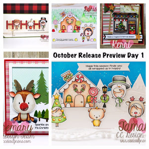 OCTOBER PREVIEW DAY 1: Christmas Cuties, Gingerbread Lane, & Make A Reindeer