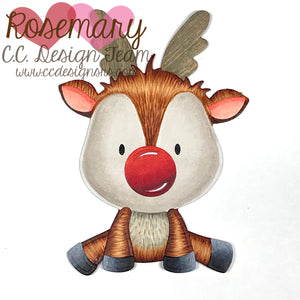 Make A Reindeer Die Coloring Tutorial