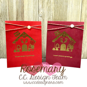 Gingerbread Lane Gold Embossed Cards
