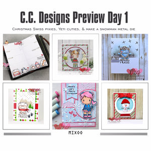 NOVEMBER PREVIEW DAY 1: CHRISTMAS SWISS PIXIES, YETI CUTIES, & MAKE A SNOWMAN