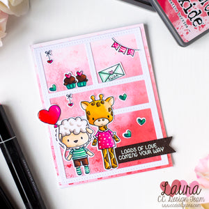 [VIDEO] Valentine's Day Card feat Valentine Animals and Hearths and Arrows Background Stamps
