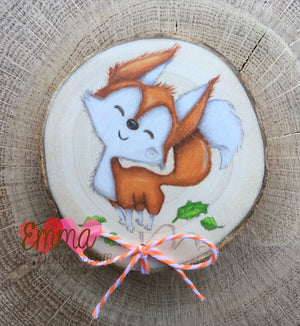 Foxes Wood Slice Magnet Tutorial