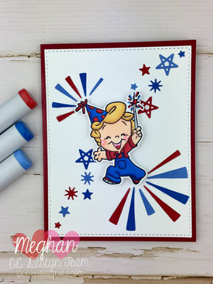July's Facebook Challenge: Red, White, Blue & June's Winners