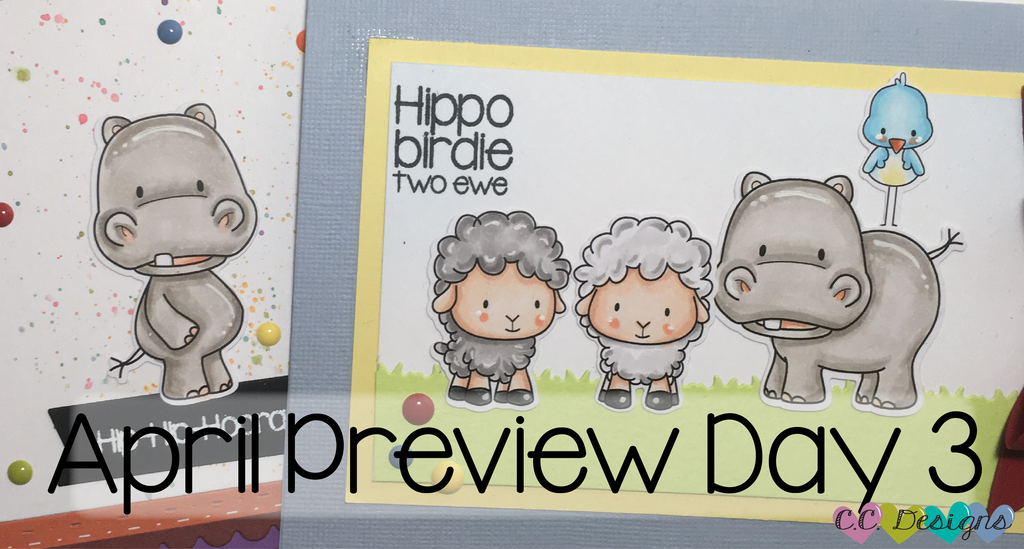 April Preview Day 3: Hippo Birdie Two Ewe Stamp Set