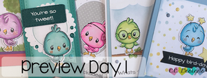 May Preview Day 1: Cutie Birds and Clouds & Grasses Stencil